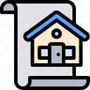 house, paper, property, real estate icon