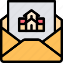 house, letter, property, real estate icon