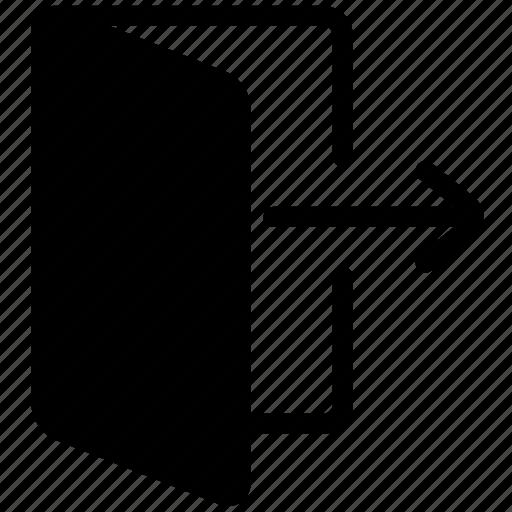 cancel, close, delete, document, exit, folder, logout icon