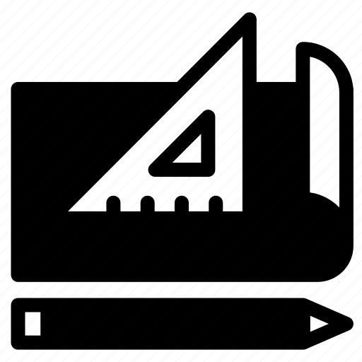 draw, edit, master, pen, pencil, ruler, tool icon
