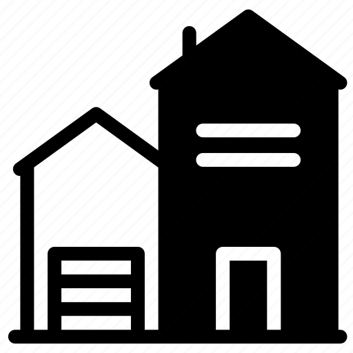 architecture, estate, house, property, real, real estate icon