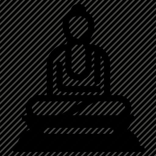buddha, pray, religion, religious, vihara icon