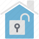 home, lock, open, real, sign, unlocked, unlocked building, unlocked house