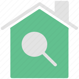find, home, inspection, magnifier, magnifying, search icon