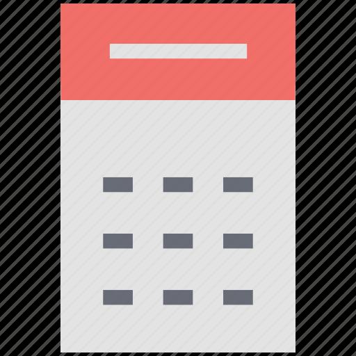 arithmetic, calculation, calculator, digital calculator, electronic calculator, mathematical icon