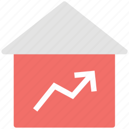 arrow sign, arrows, house, real estate, up icon