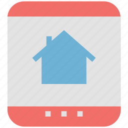 ipad, online house, online property, real estate, tablet icon