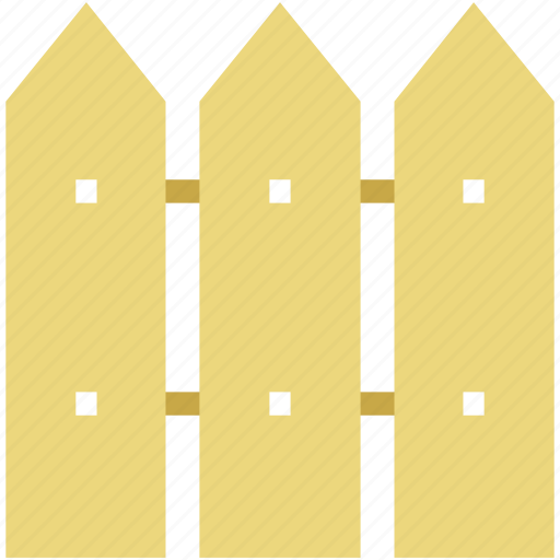 boundary, fence, garden, paling, palisade, railing, wooden icon