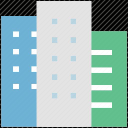 building, estate, hotel, real estate, trade center icon