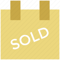 real estate, signboard, sold, sold sign icon