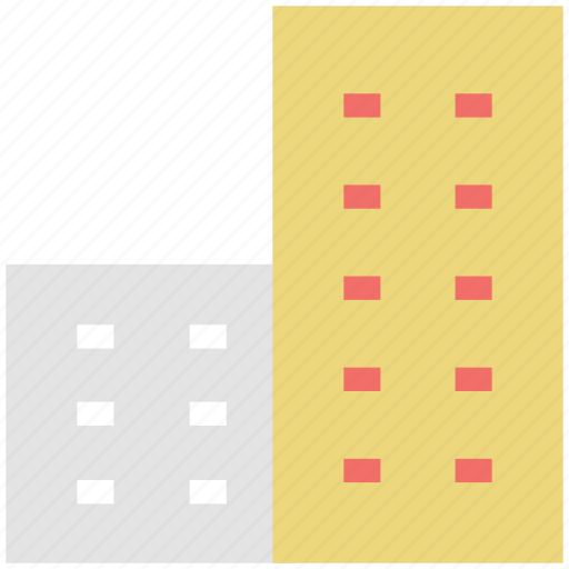 building, estate, hotel, real estate, trade center icon