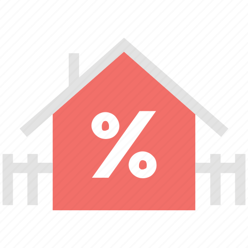 home, percentage, percentage sign, property, real estate, value icon