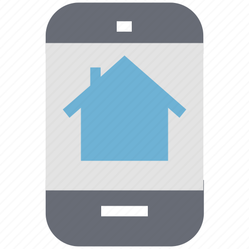 home, house, mobile device, online property, property, real estate app icon