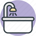 bath accessory, bathing, bathroom, bathtub, lavatory icon