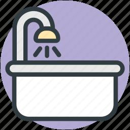 bath accessory, bathing, bathroom, bathtub, lavatory icon