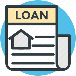 legal documents, mortgage loan, real estate, rental agreement icon