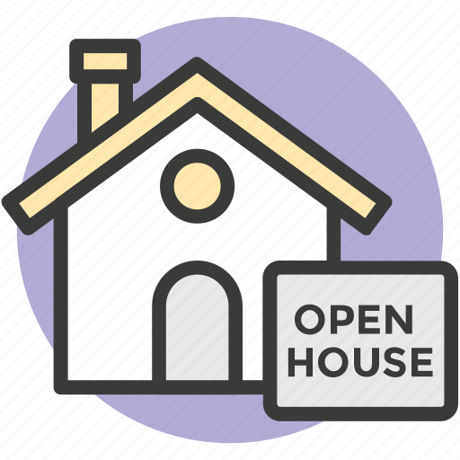advertising, building, new home, open house, resident icon