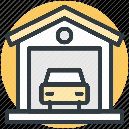 automobile, car garage, car repair, garage service, vehicle icon