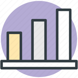 analytic, bar chart, bar graph, stat icon