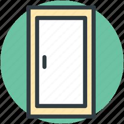 door closed, doorway, entryway, house door icon