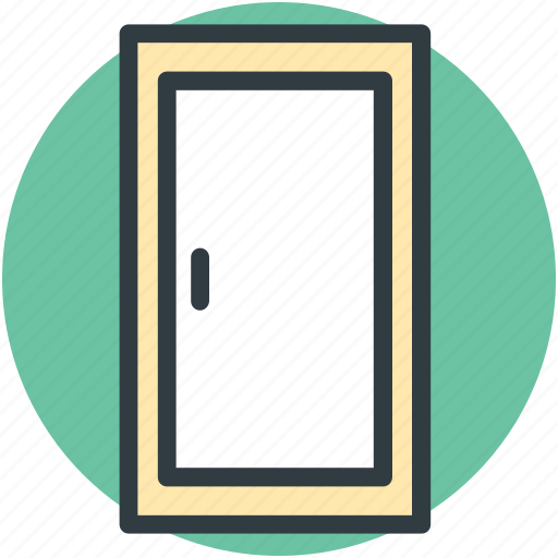 door closed, doorway, entryway, house door icon