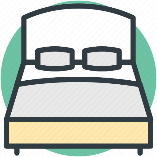 bed, bedroom, furniture, rest, sleeping icon