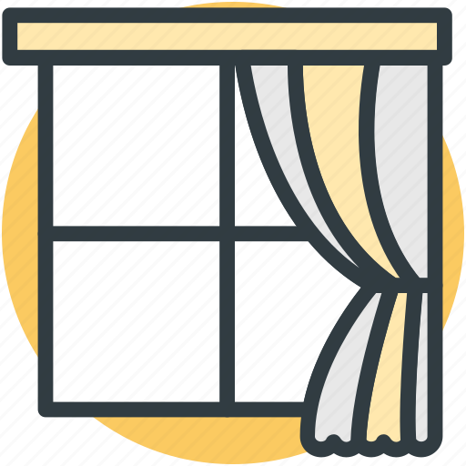 curtain, indoor window, real estate, window, window frame icon