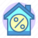 building, discount, estate, home, property, sale icon