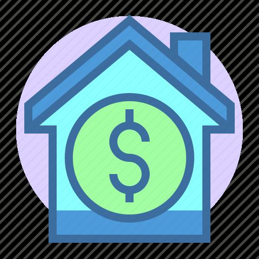 building, dollar, estate, home, price, property icon