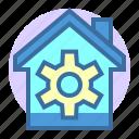 building, estate, home, house, property, repair