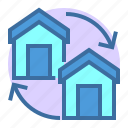 change, estate, home, property, sswitch icon