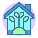 eco, estate, green, home, plant, property icon