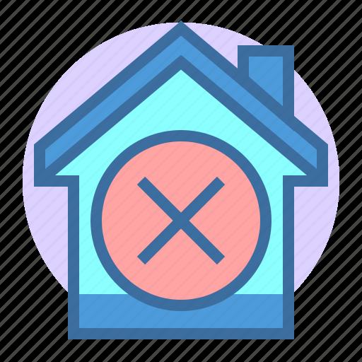 building, delete, estate, home, property icon