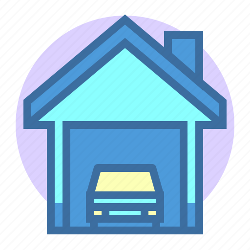 building, estate, garage, home, property icon