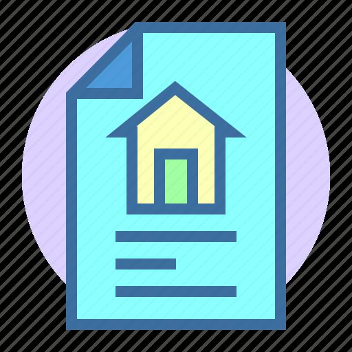 estate, file, home, property icon