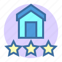 estate, good, home, property, rate icon