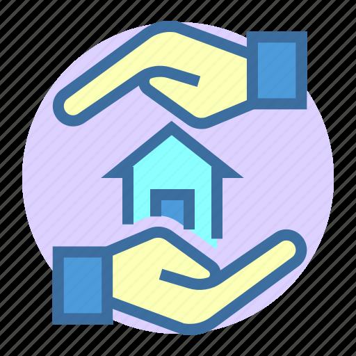 estate, home, insurance, loan, property icon