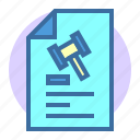 estate, file, home, law, mou, property icon