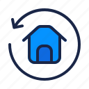 estate, home, house, real, refresh, reload, rotate icon