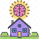 brain, estate, house, real, realtor, smart icon