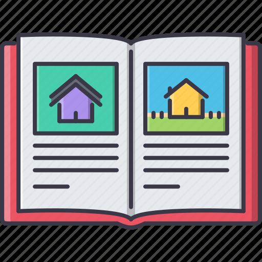 album, book, estate, house, photo, real, realtor icon