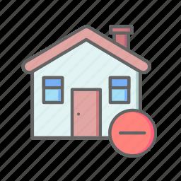 delete, estate, home, house, real, rent, sale icon