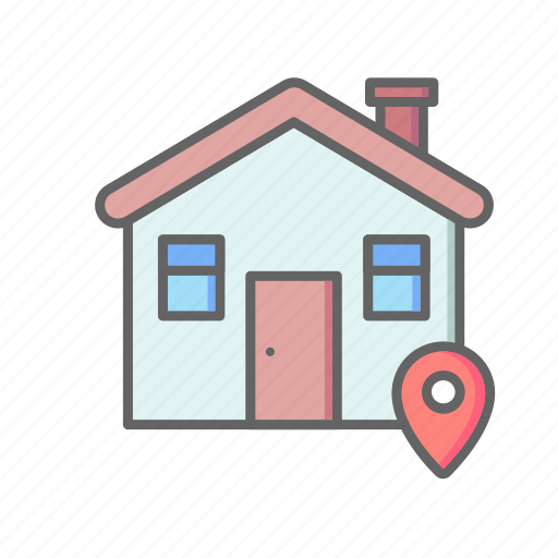 Real, estate, house, sale, rent, home, location icon