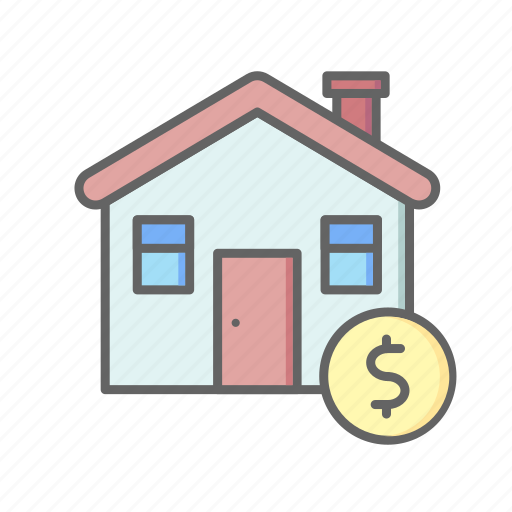 estate, home, house, money, real, rent, sale icon