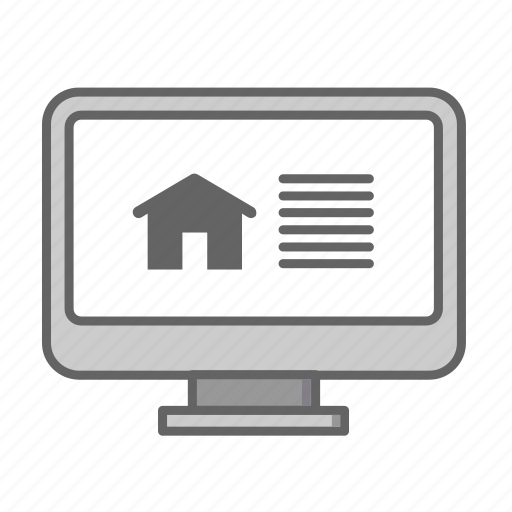 Real, search, estate, house, sale, rent, home icon
