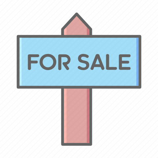 Real, estate, house, sale, sign, board, home icon - Download