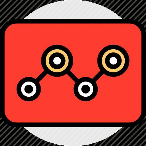 analytics, tube, web icon