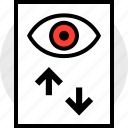 analytics, arrow, eye, views icon