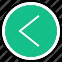 nav, navigation, back, left icon