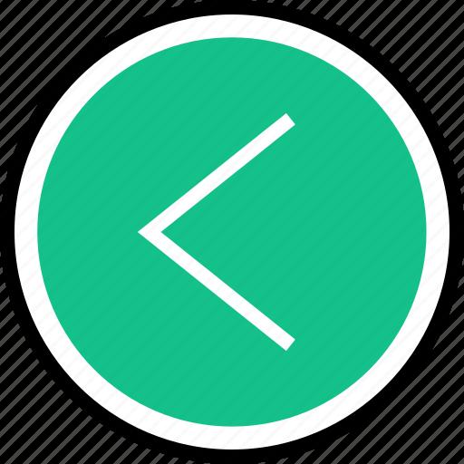 back, left, nav, navigation icon